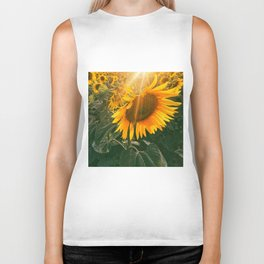 summer in the fields Biker Tank