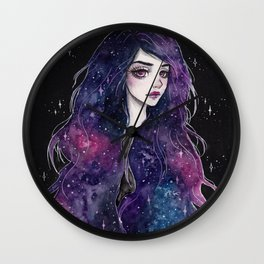 Galaxy hair series 1/4 Wall Clock