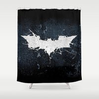 thorin Shower Curtains featuring BAT MAN by Thorin