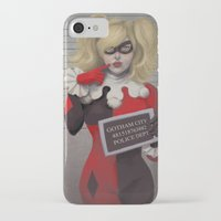 harley quinn iPhone & iPod Cases featuring Harley quinn by Sara Meseguer