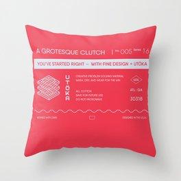 A grotesque clutch Throw Pillow