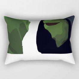 Evil Kermit Meme Rectangular Pillow