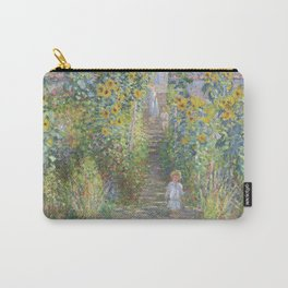 The Artists Garden at Vetheuil (1881) by Claude Monet Carry-All Pouch