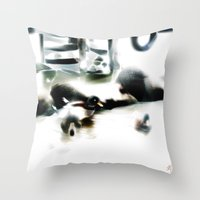ducks Throw Pillows featuring ducks  by Gréta Thórsdóttir