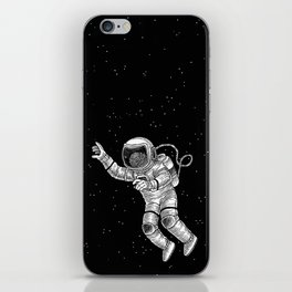 Astronaut in the outer space iPhone Skin