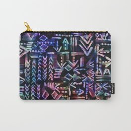 Tapa Tribal Black Carry-All Pouch