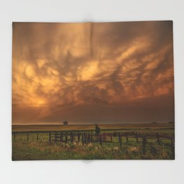 Afterglow - Clouds Glow After Storms at Sunset Throw Blanket