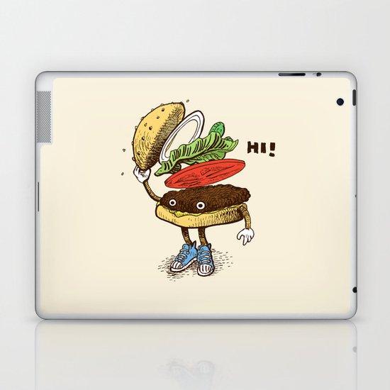 Burger Greeting Laptop & iPad Skin