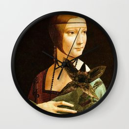 Lady with a young Demo Gorgon Wall Clock