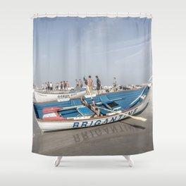 Brigantine Lifeboat Shower Curtain