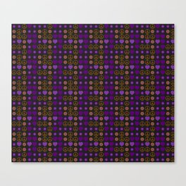 Halloween Peace Holiday Weave Canvas Print