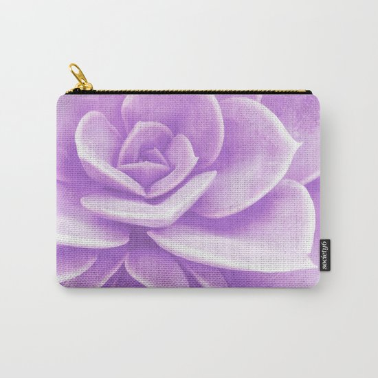 Purple Succulent Reflection Carry-All Pouch