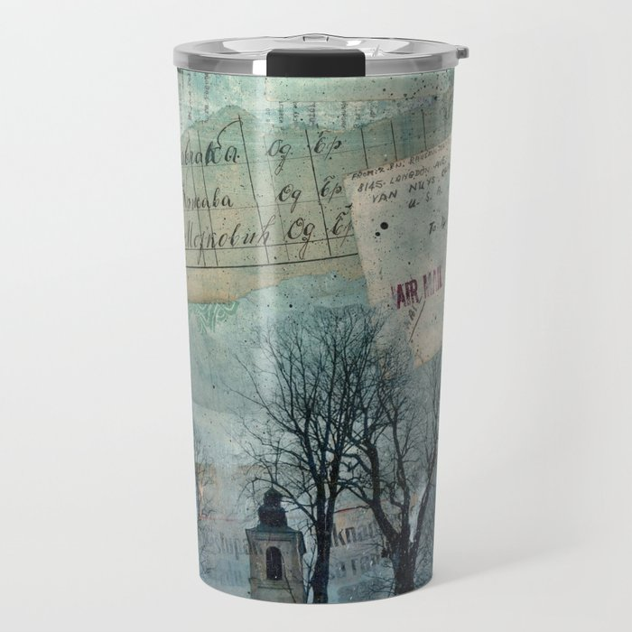 A Village Church on the Top of the Hill Travel Mug