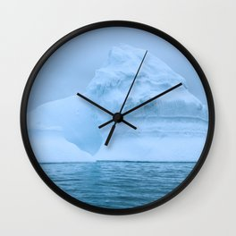 Visions of Blue III Wall Clock