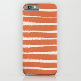 Orange stripe pattern iPhone Case