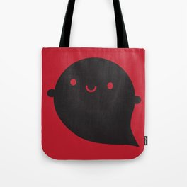 Evil Twin Black Ghost - Kawaii Halloween Tote Bag