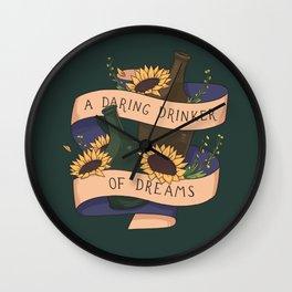 Drinker of dreams Wall Clock