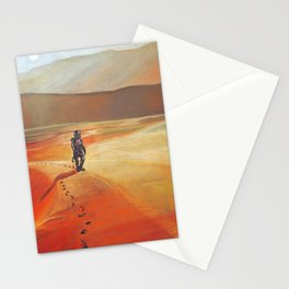 The Martian Mars walk inspired chalk drawing Stationery Cards