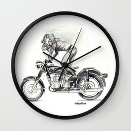 Retro Moto Girls - Kickstart Wall Clock