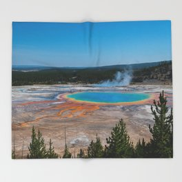 Grand Prismatic Spring, Yellowstone Throw Blanket