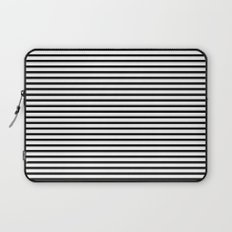 White Black Stripe Minimalist Laptop Sleeve