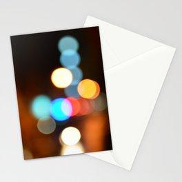 City lights bokeh art Stationery Cards