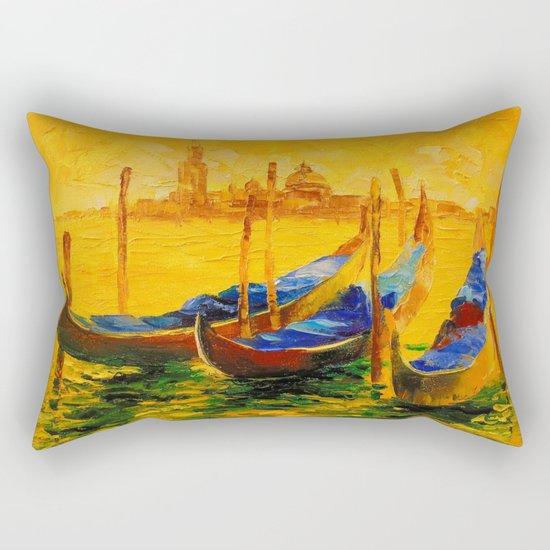 Golden evening in Venice Rectangular Pillow