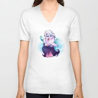 ursula V-neck T-shirts featuring Ursula by breakfastjones