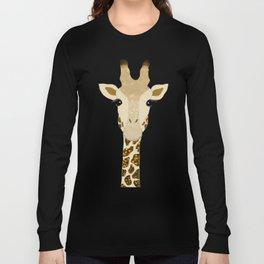 Golden Glitter Giraffe Long Sleeve T-shirt