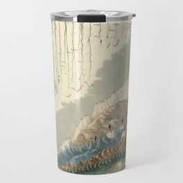 1854 Comparative Lengths of Rivers and Heights of Mountains Travel Mug