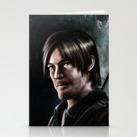 daryl dixon Stationery Cards featuring Daryl Dixon by Angelo Quintero