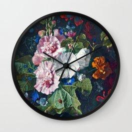 Summer Flowers III Wall Clock