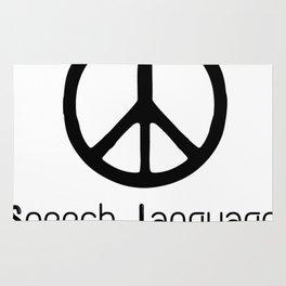 Peace Love Speech Language Pathology Rug