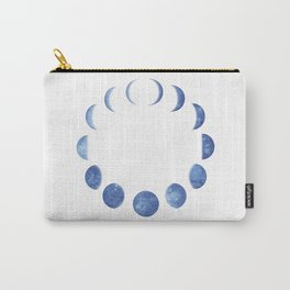 Blue Moon Phases | Watercolor Painting Carry-All Pouch
