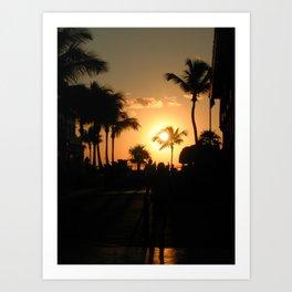 Key West, Florida Sunset. Art Print