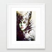 maleficent Framed Art Prints featuring Maleficent by Vincent Vernacatola
