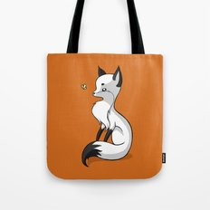 Fox and a Butterfly Tote Bag