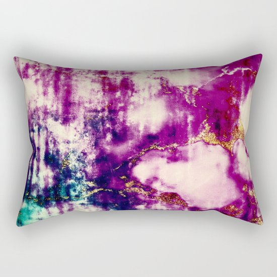 golden crackle Rectangular Pillow