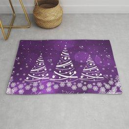 Happy Holidays Purple Magic Rug