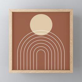 Mid Century Modern Geometric 3 (Terrocatta and beige) Framed Mini Art Print