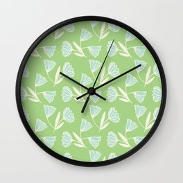 Flowers and wind Wall Clock
