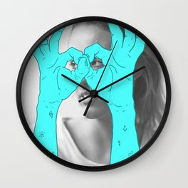 Peak-a-Boo Wall Clock