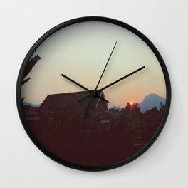 Vang Vieng Sunset Wall Clock