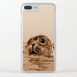 The SEAL - sepia 17 Clear iPhone Case
