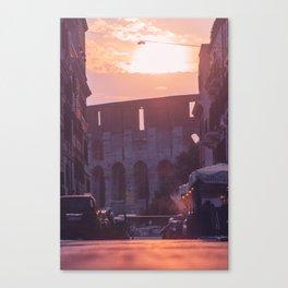 Purple Colosseum Canvas Print