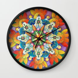 "Mandala ~ ""Changing Turtle Seasons"" Wall Clock"