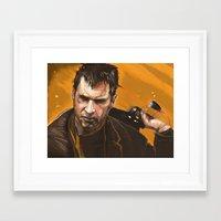 blade runner Framed Art Prints featuring Blade Runner by Berkay Daglar