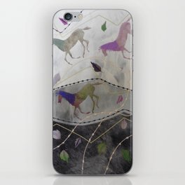 Three Galloping Horses by Jackie Wills iPhone Skin