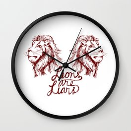 Lions Are Liars Wall Clock