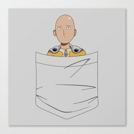Caped Baldy Pocket Tee Canvas Print